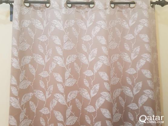 Curtains with curtain bars