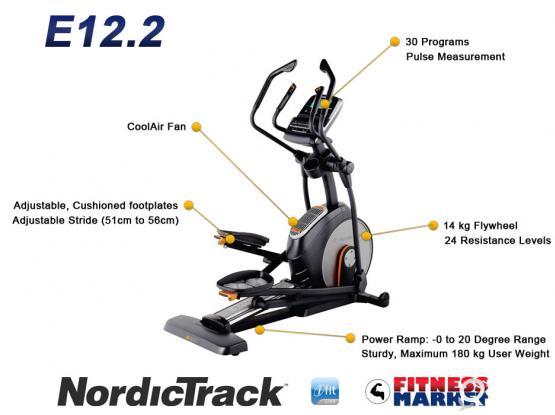 Elliptical Cross-trainer - NordicTrack E12.2 Front Wheel