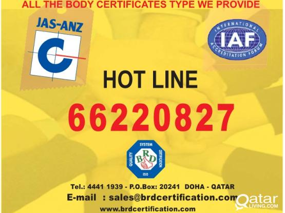 GET YOUR ISO CERTIFICATION NOW