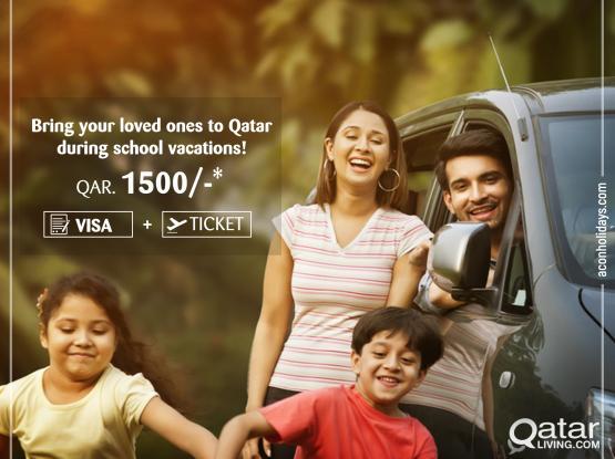 Visa + Ticket QAR 1500