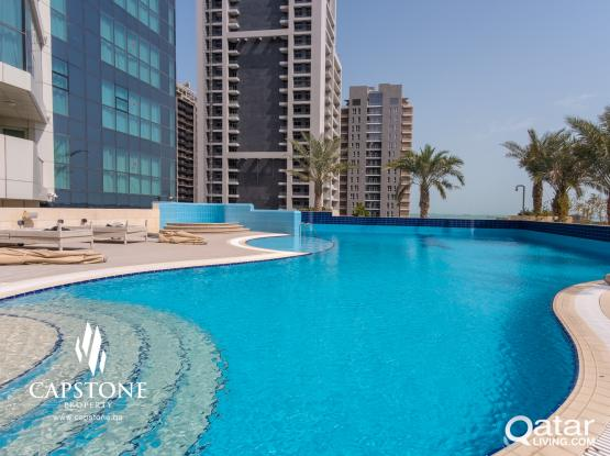 Free 1 Month! Luxurious 1BR FF in Lusail