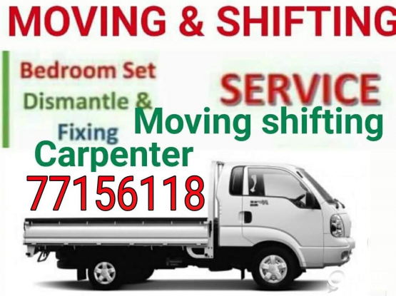 moving shifting and carpentry service 24hours please call WhatsAp 77156118