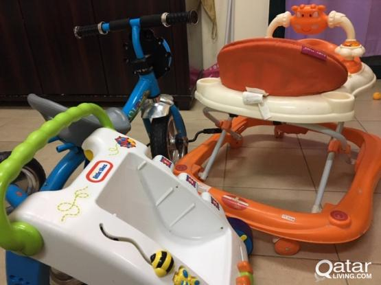 KIDS ITEMS ( BABY WALKERS AND CYCLE )