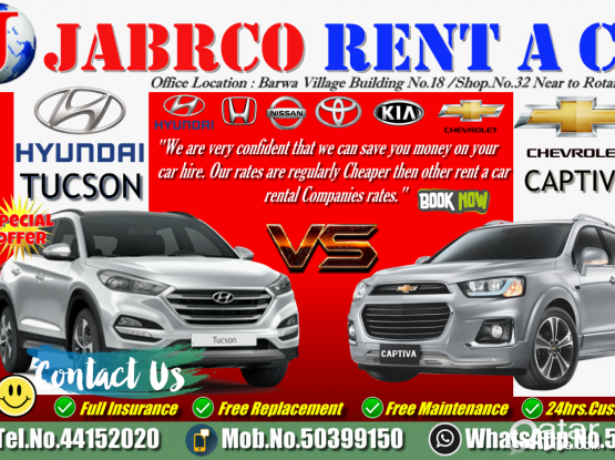 SUV Vehicles For Rent !! More Discount !!Contact Us :- 50399150/44152020