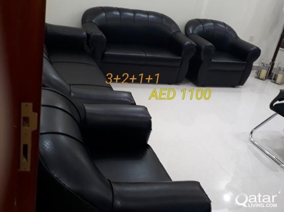 brand new sofas for sell 3+2+1+1= 7 seter QR 1100