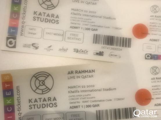 AR Rahman live show ticket
