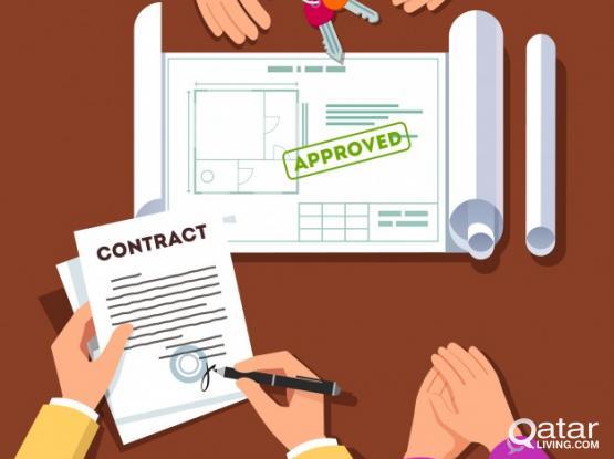 (55675585)100%original Genune Tenancy Contract For Family Visa & health card Baladiya Attested.