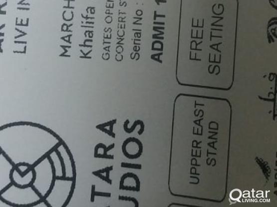AR Rahman upper East 3 tickets