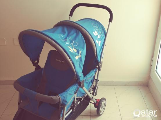 Baby stroller ,bouble seated