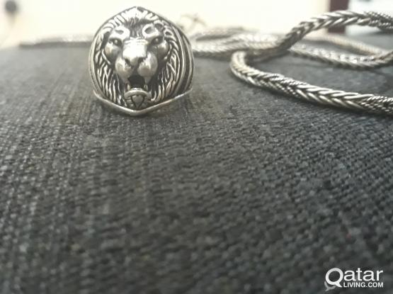 New Men Lion Silver Ring