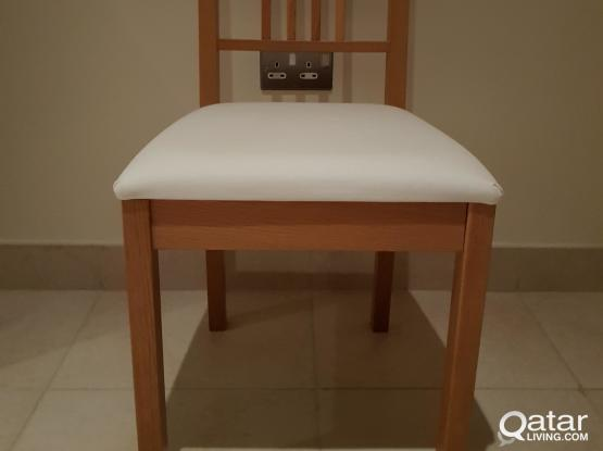 3 IKEA wood chairs