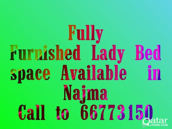 FOR LADY FULLY FURNISHED ROOM AVAILABLE IN NAJMA