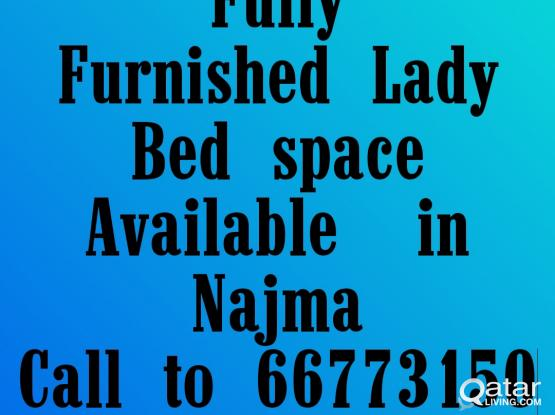 Total furnished Bed space for girls in Najma