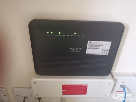 Ooredoo home gateway, oredoo TV and router