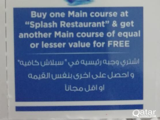 Splash Restaurant Coupon