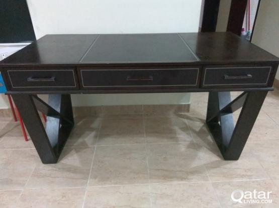 Ikea table with three draws