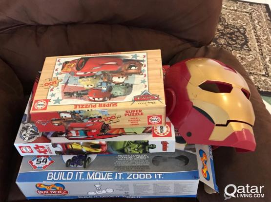 puzzles and iron man mask