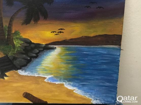 Painting Landscape on Canvas
