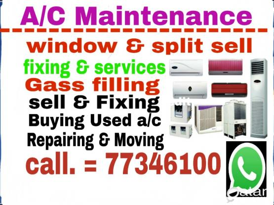 Good a/c for sell window & split, we sell low price & services  & Buying used a/c,  77346100