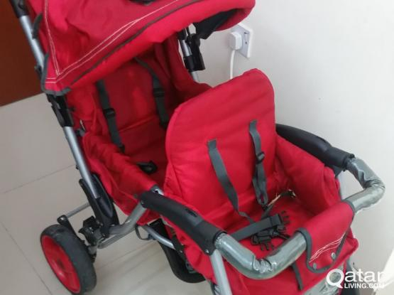 Baby stroller. Double seater