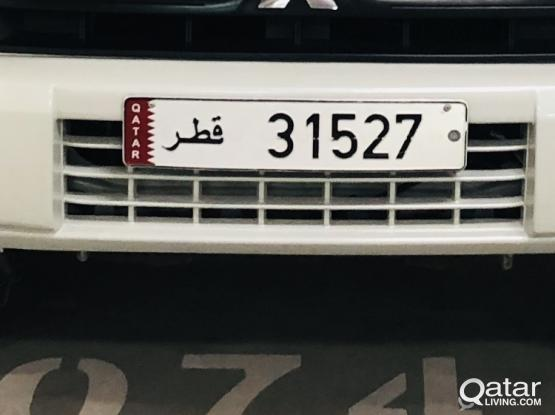 5 digit car number- 31527