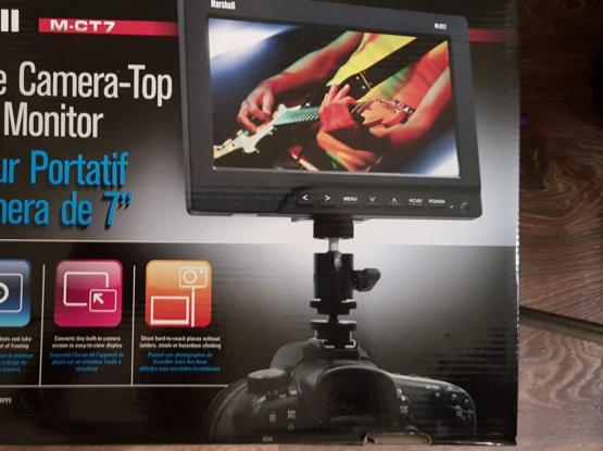 """Marshall   7""""  LCD Monitor and accessory"""