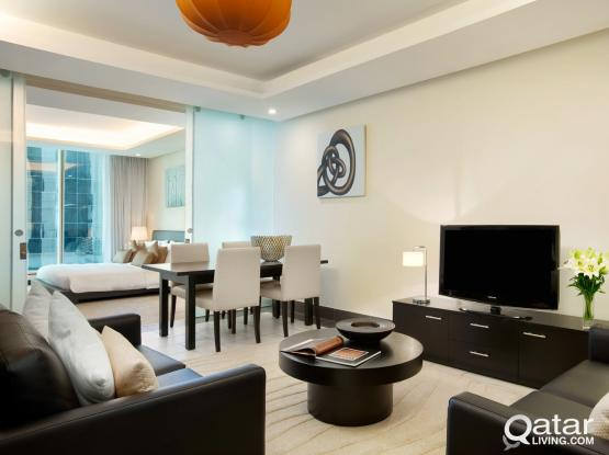 One Bedroom Luxury Apartments in West Bay - Kempinski Residence and Suites