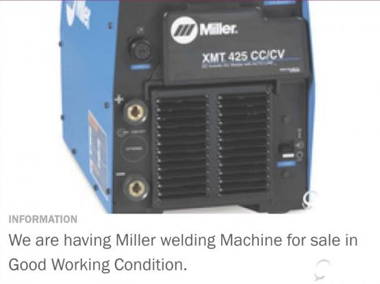 Miller Welding machine for sale | Qatar Living
