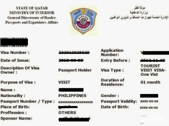 Qatar Tourist and Business Visa