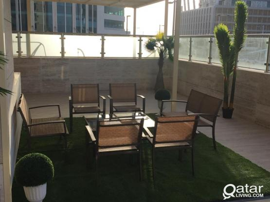 Fully Furnished flat with Terrace Q Tower