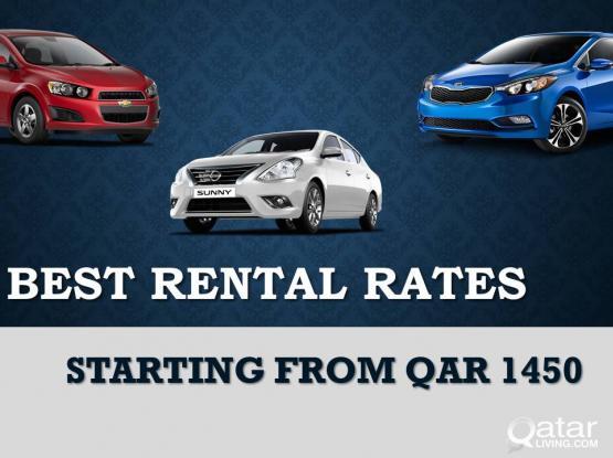 Car Rental starting from QAR 1450/-