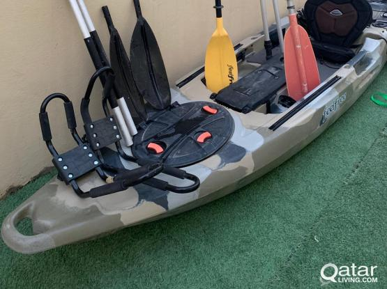 Fishing and leisure Kayak with tons of accessories
