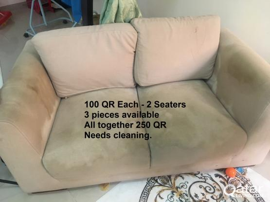 2 Seater Sofa - 3 Pieces  - Buy two get one free