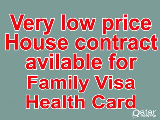 33226879-100% Gaurantee House Contract For Family Visa/Health ID With Baladiya Attestion