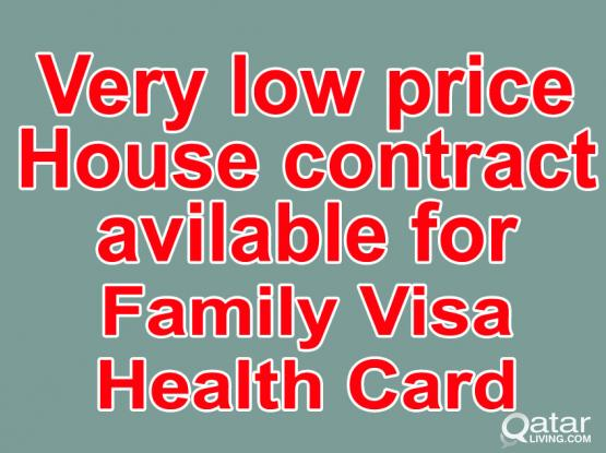 33226879-100% Gaurantee House Contract For Family Visa/Health ID With (Baladiya Attestion)