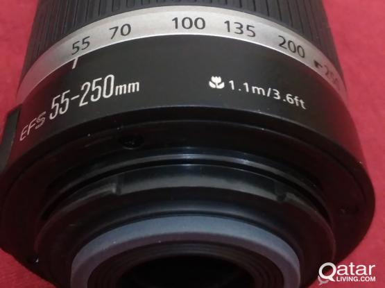 Canon EF-S 55-250mm IS Lens QR 425 Very Clean / like new