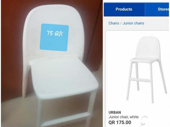 X2 ikea kids chair