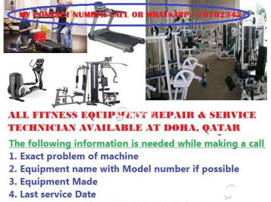 TREADMILL /GYM/FITNESS EQUIPMENT repairing IN DOHA QATAR