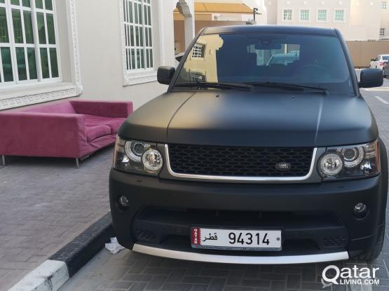 Range Rover Sport Se Matte Black 5 Digit Plate Qatar