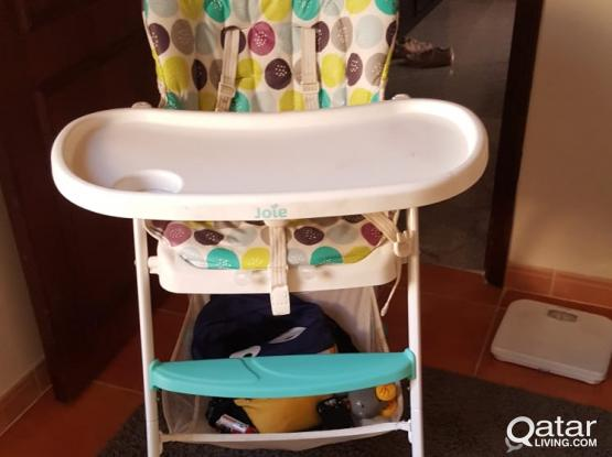 baby chair and Avent sterilizer