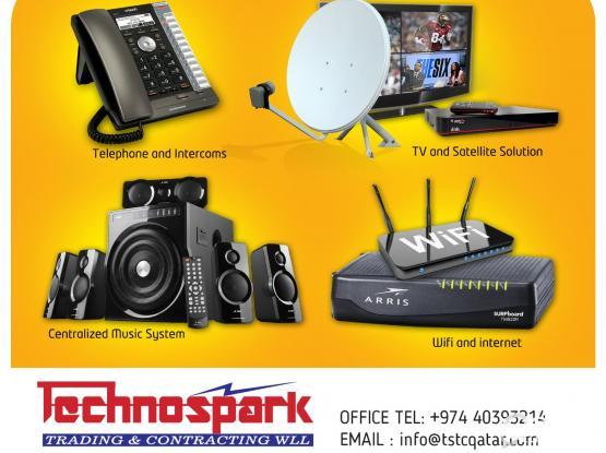 Centralised Music System, Telephone & Intercom