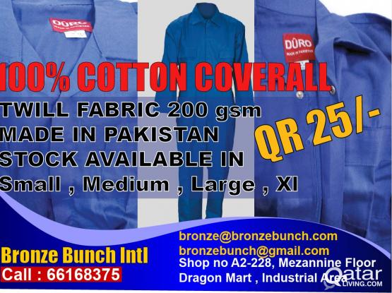 Coverall supply (Made In Pakistan)