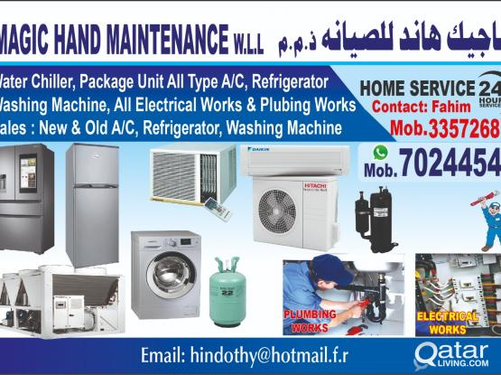 Please call 70244547 A/C & ALL HOUSE MAINTENANCE.