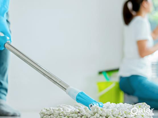 female /male cleaner available :77484844