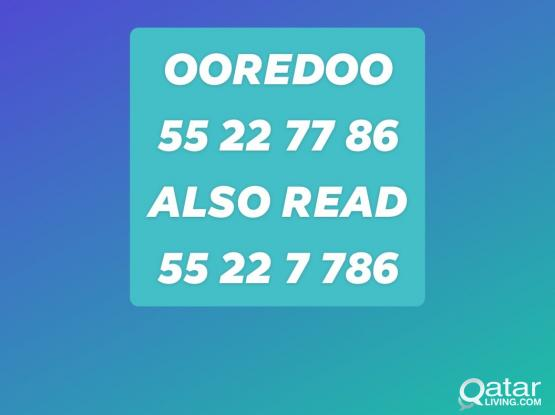 Ooredoo No.  55 22 77 86 for sale. read this way too.. ......................55 22 7 786
