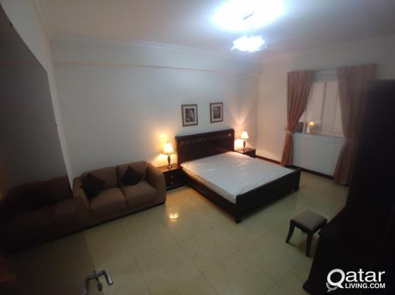 One Fully Furnished Bedroom available in 3 bed room Flat available in Al-Saad Near Center Point