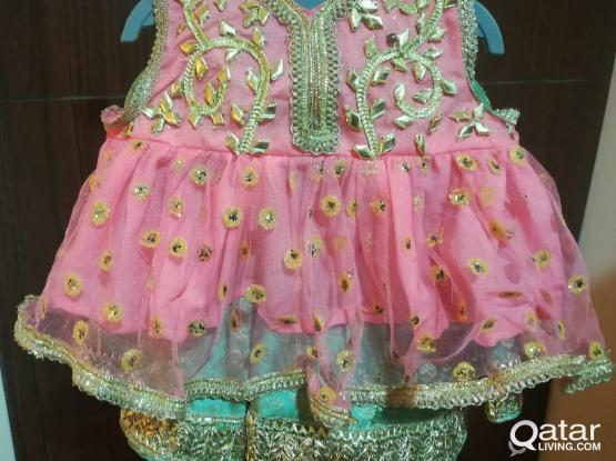 Beautiful Frock and Gharara: Customized Made for New Born