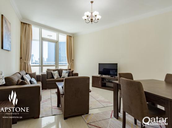 FREE QATAR COOL! FF 2BR Apartment in West Bay *