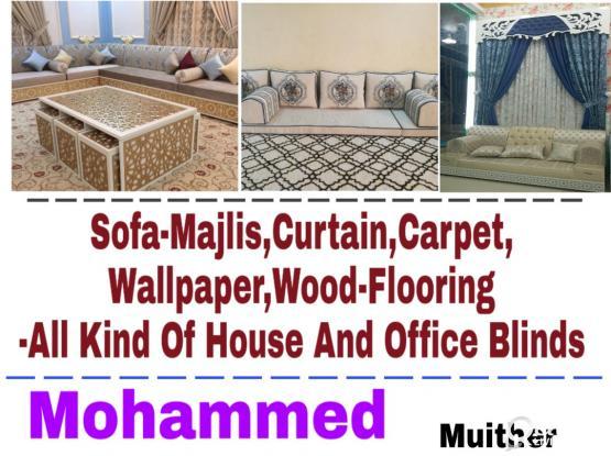 MOB.66145665 :- We Making new Sofa,Curtain,Wallpaper,Carpet,Woodfloor