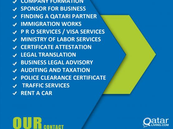 COMPANY FORMATION / IMMIGRATION ASSISTANCE / BUSINESS SERVICES / PRO SERVICES / VISA SERVICES